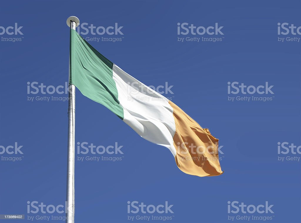 irish flag royalty-free stock photo