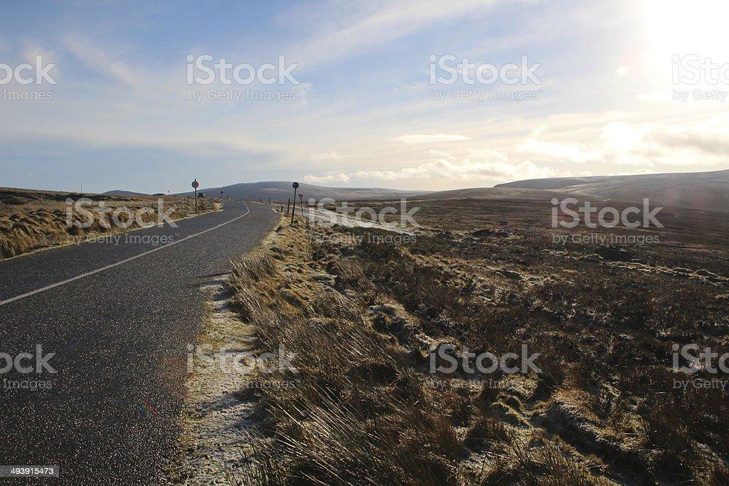 Irish Frosty Winter Road stock photo