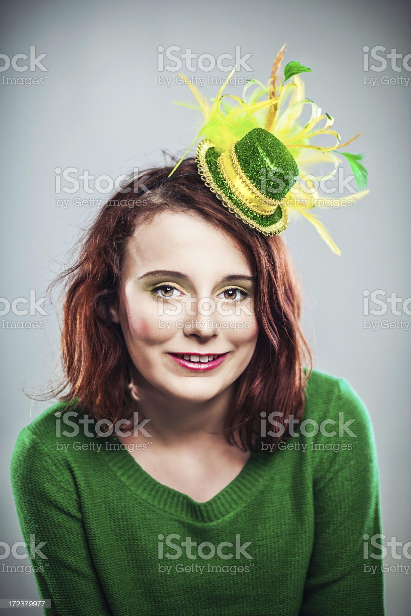 Irish girl ready for st patricks day royalty-free stock photo