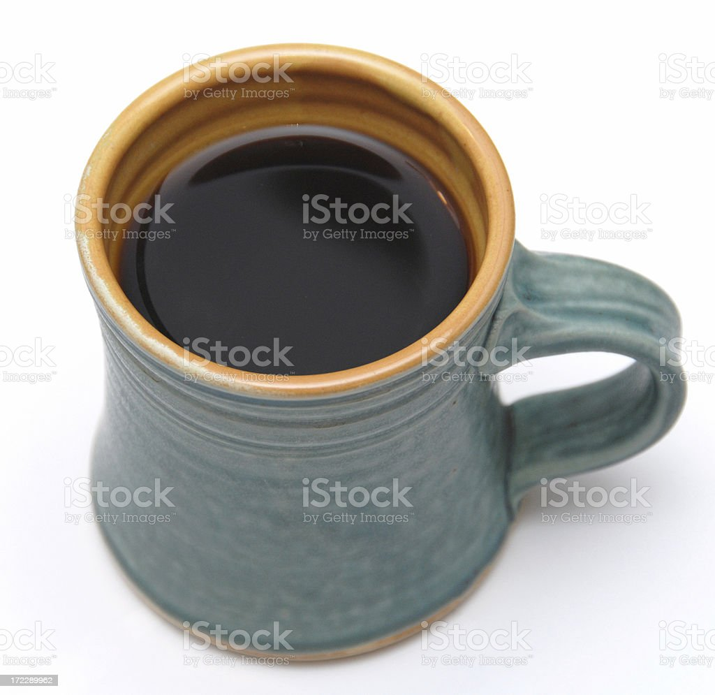 Irish green coffee mug stock photo