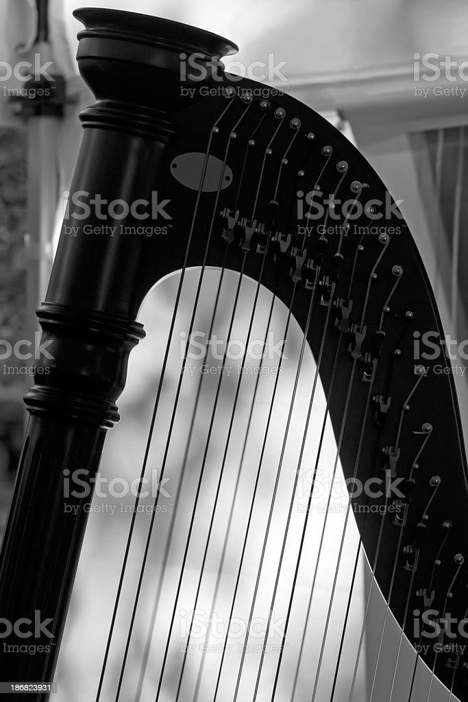 Irish Harp Silhouette stock photo