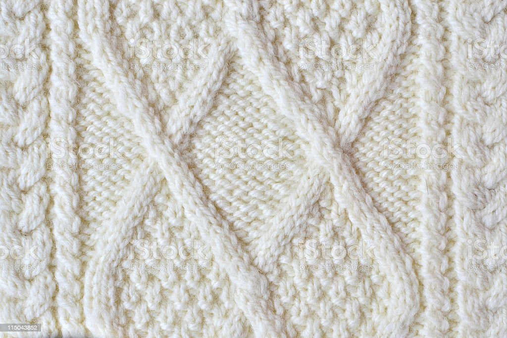 Irish knitting pattern royalty-free stock photo