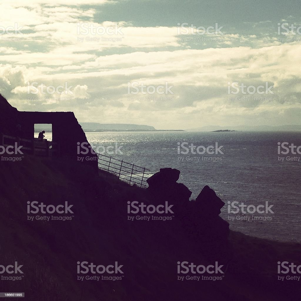 Irish landscape by the sea royalty-free stock photo