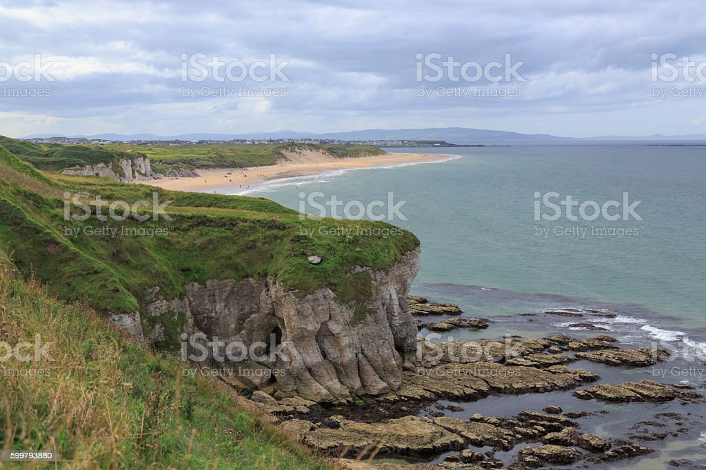 Irish landscape, coastline stock photo
