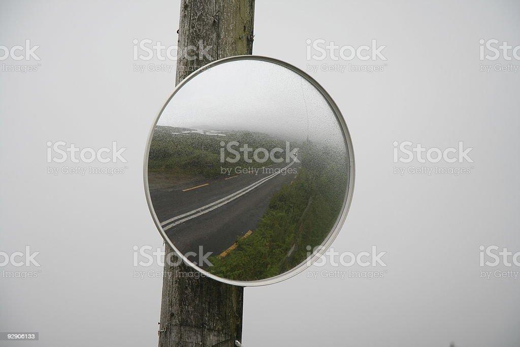 irish landscape in mirror stock photo