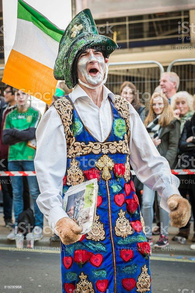 Irish leprechaun stock photo