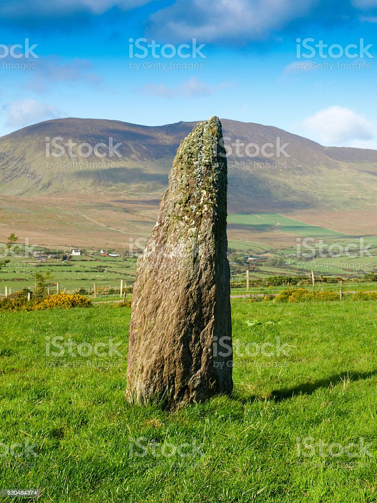 Irish Menhir royalty-free stock photo