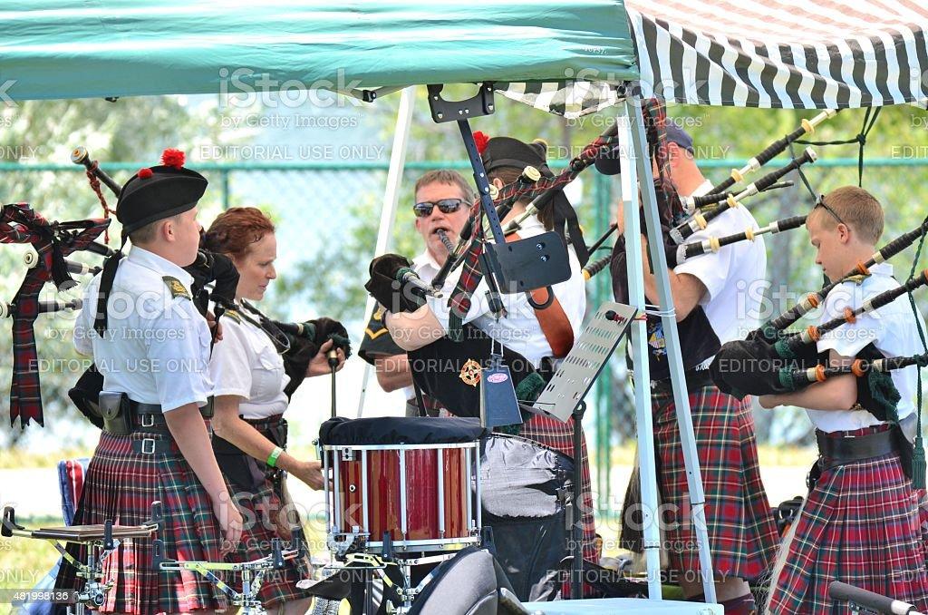 Irish Musical Group. stock photo