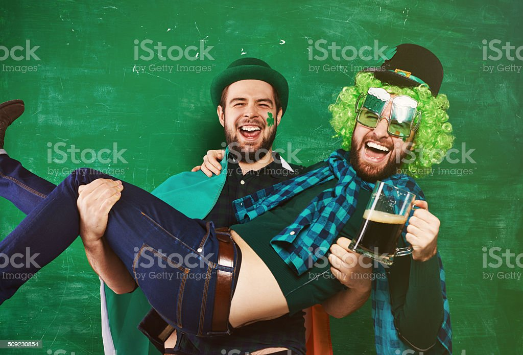 Irish party hard stock photo
