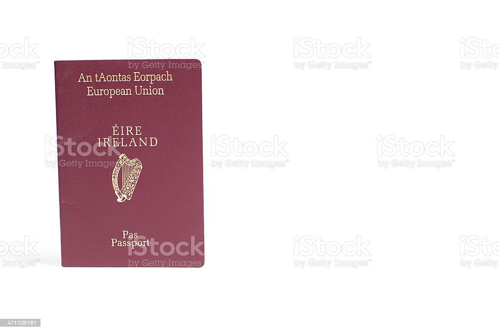 Irish Passport royalty-free stock photo