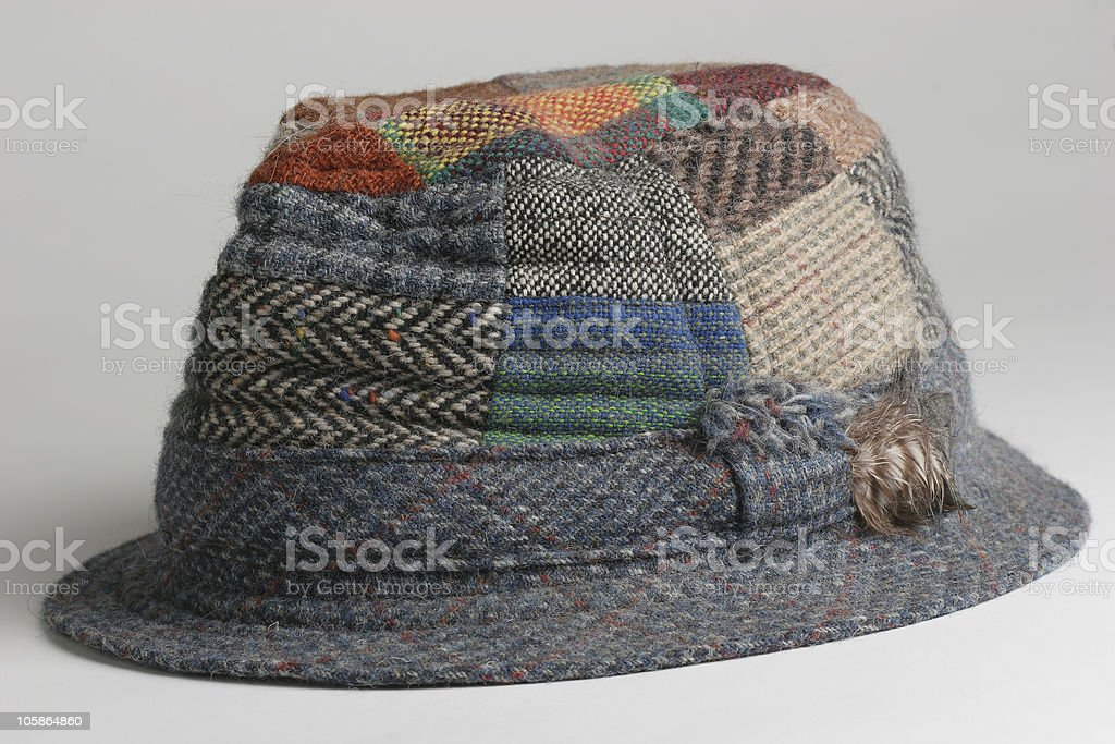 Irish Patchwork Hat royalty-free stock photo