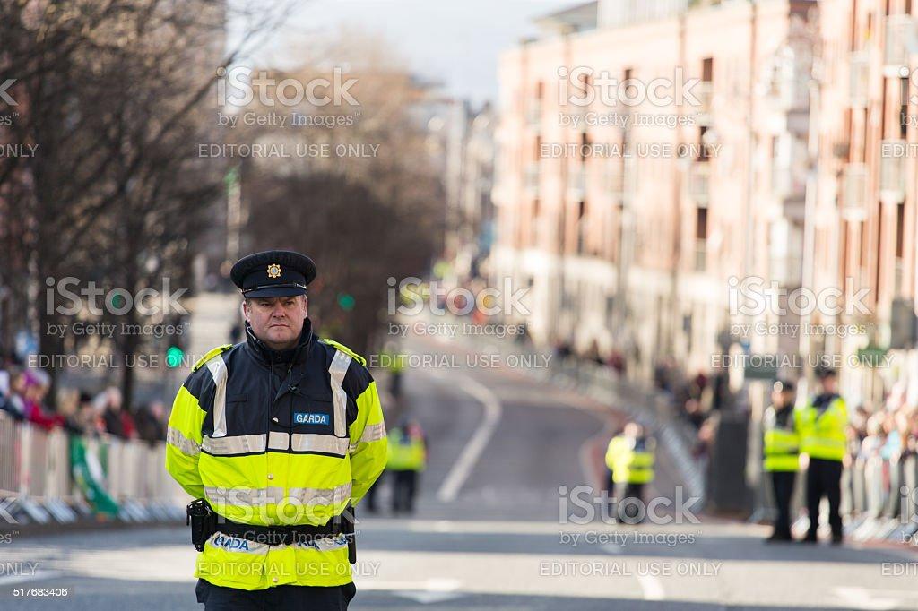 Irish Police stock photo