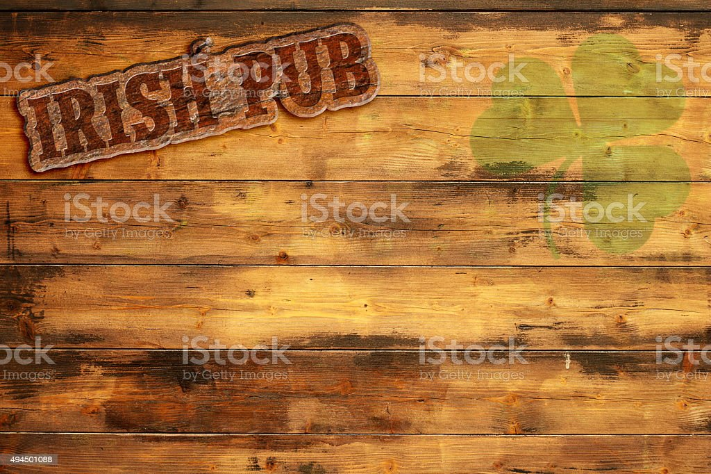 irish pub label stock photo