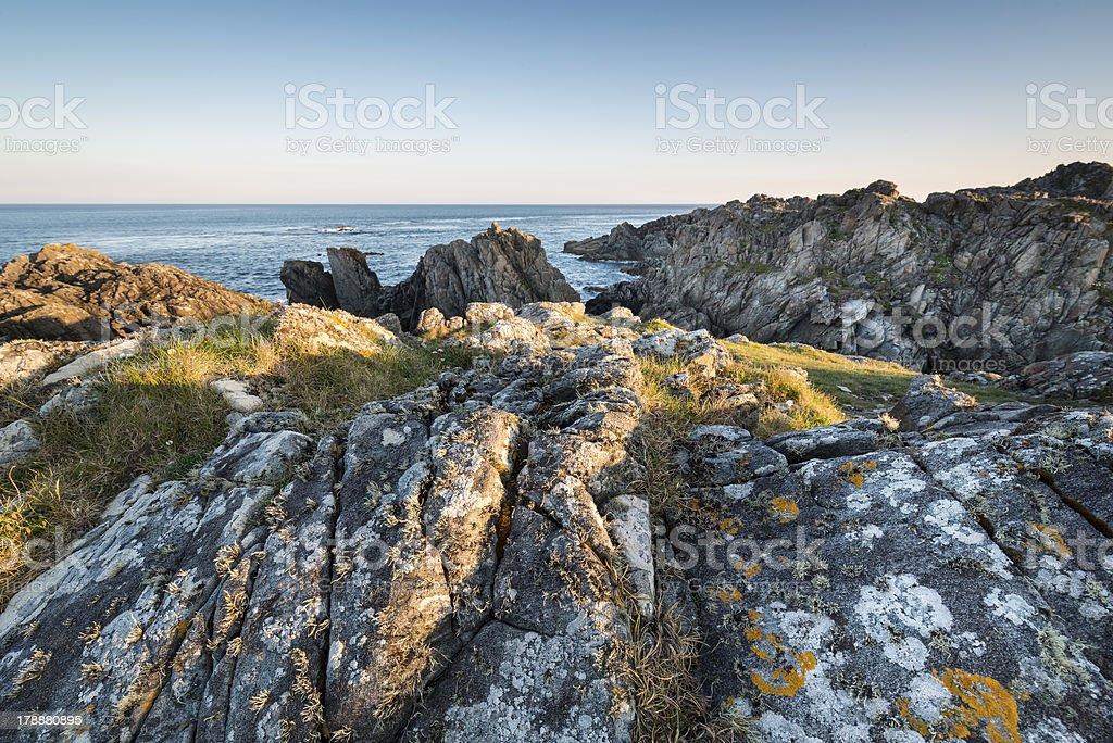 Irish rocky coastline royalty-free stock photo
