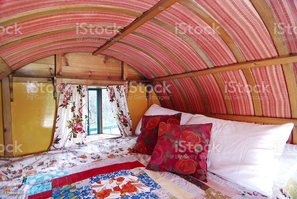Irish Romany Gypsy Caravan stock photo