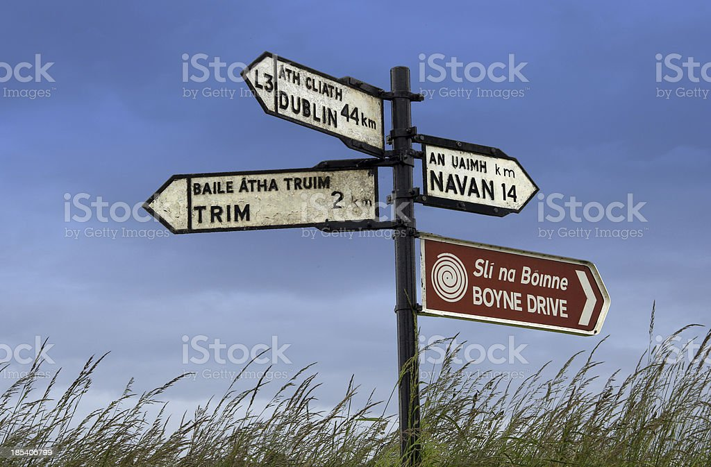 Irish signpost royalty-free stock photo