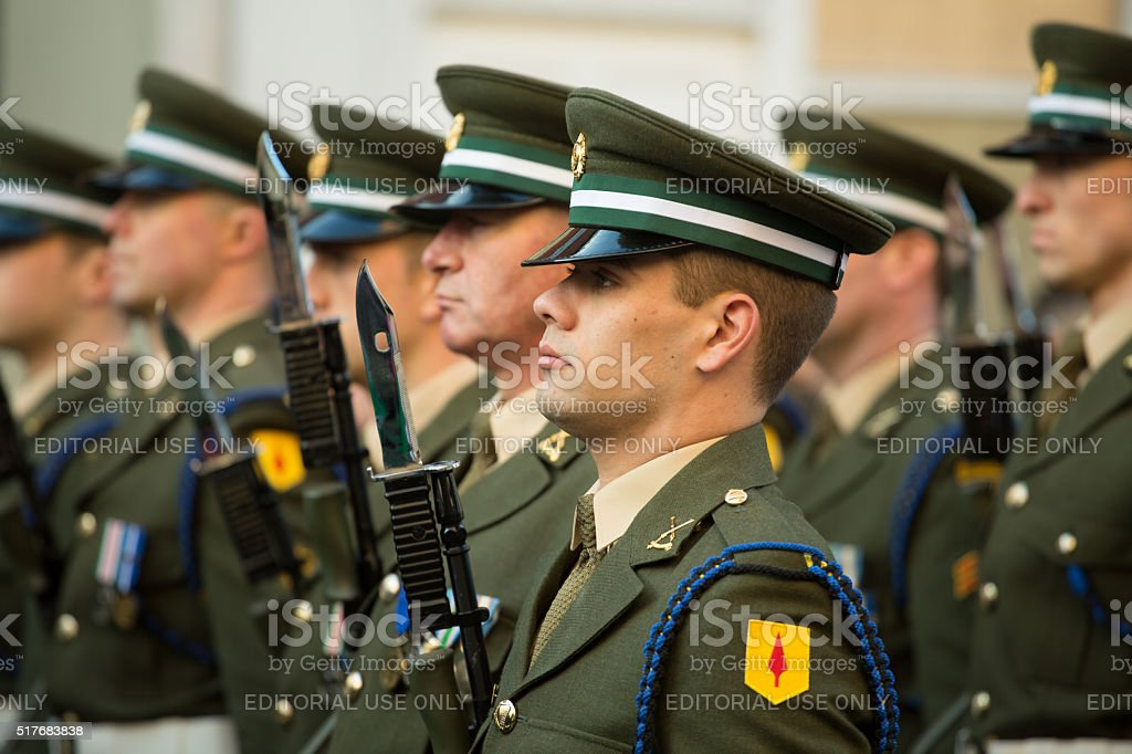 Irish soldiers stock photo
