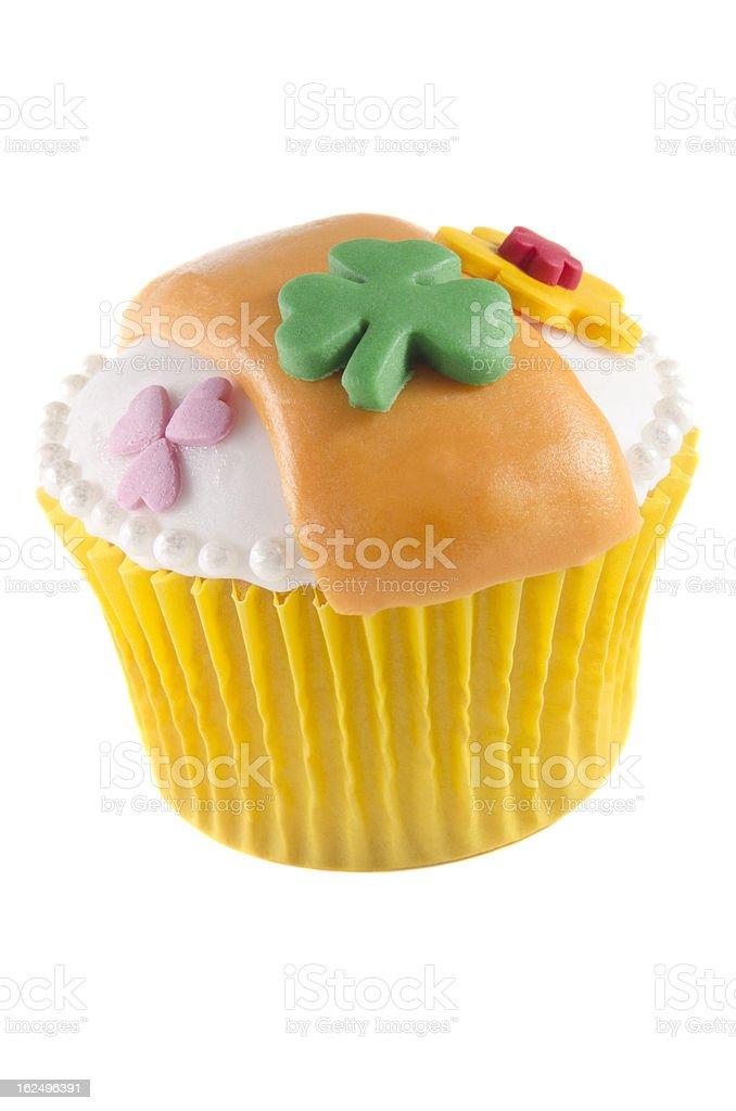 irish st patrick vanilla cupcake royalty-free stock photo