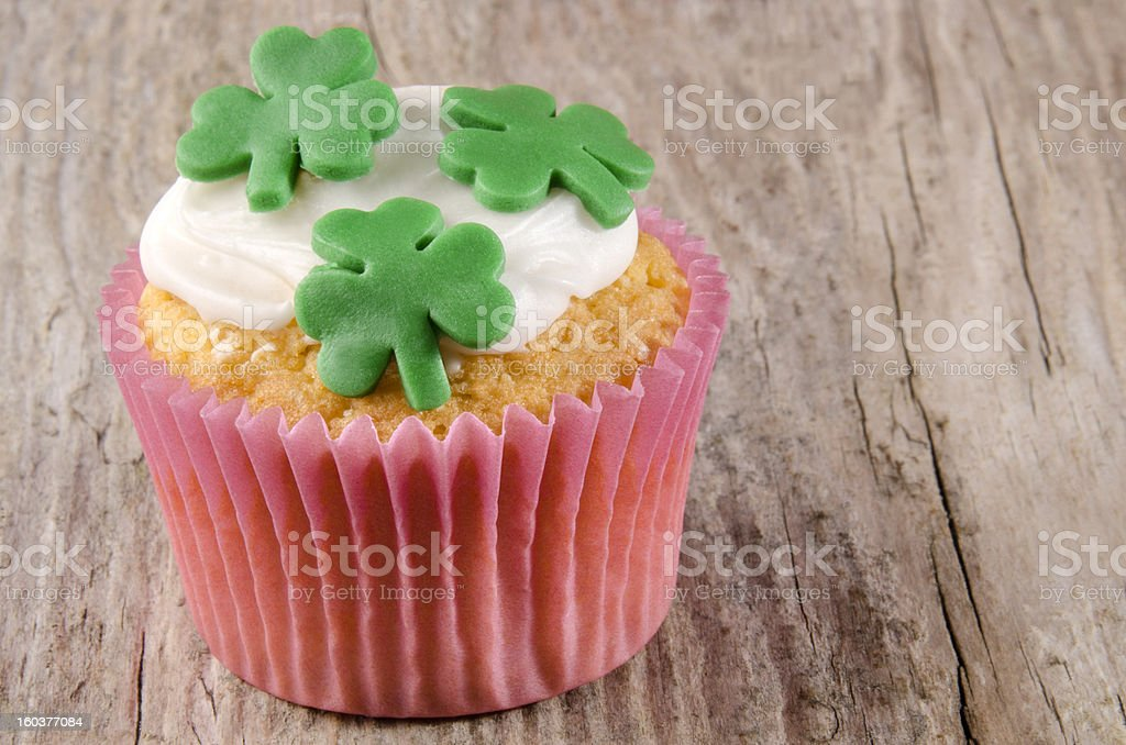 irish st patricks day cupcake royalty-free stock photo