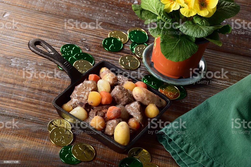 Irish Stew for St. Patrick's Day stock photo