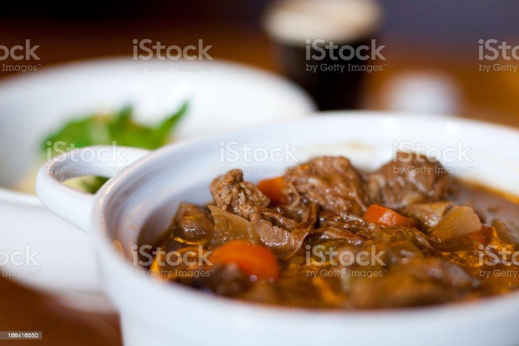 Irish stew stock photo