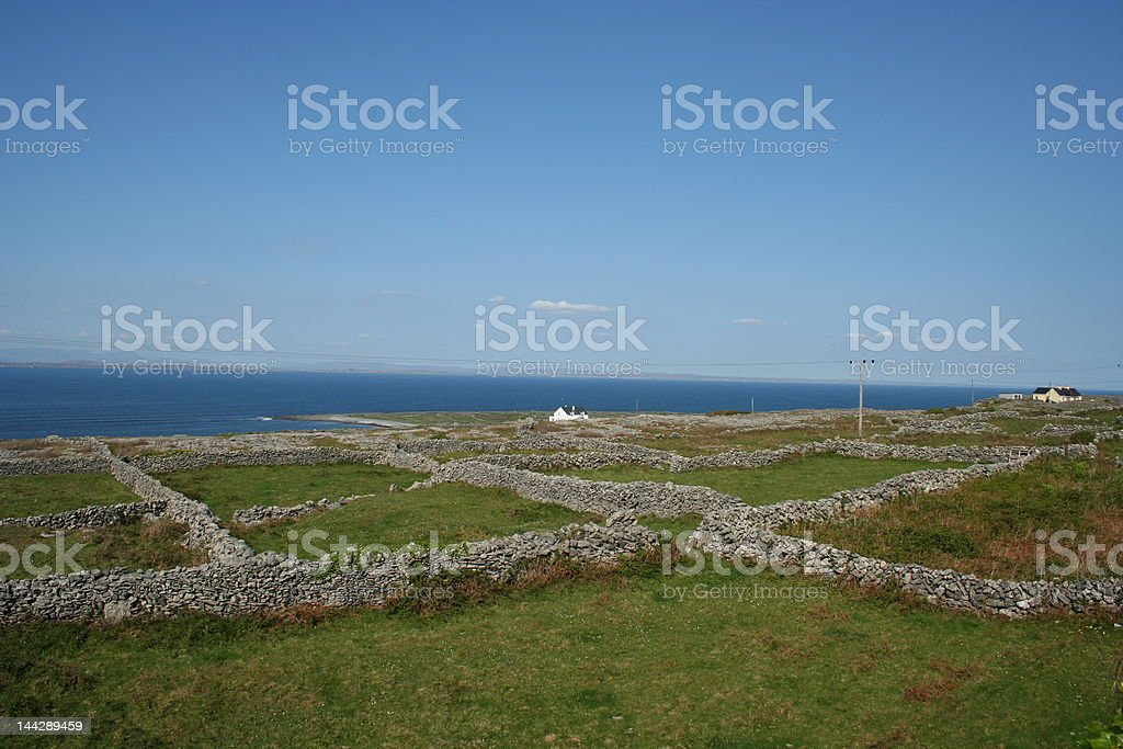 Irish Stone Walls stock photo