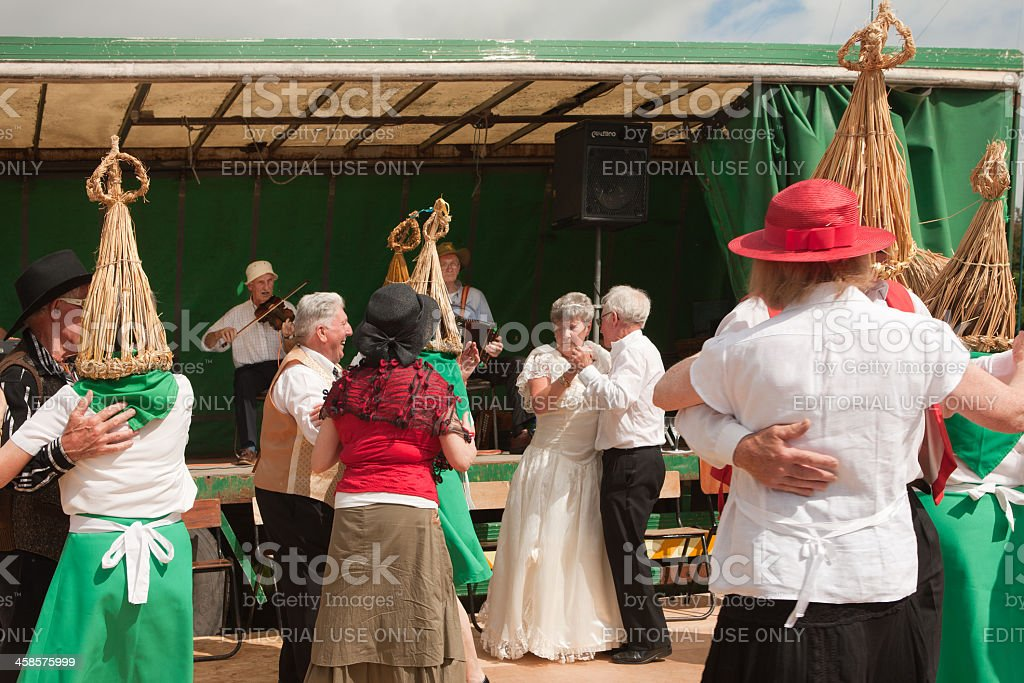 Irish straw boys dance stock photo