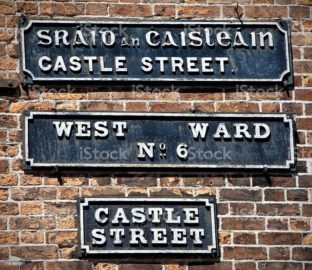 Irish street signs royalty-free stock photo