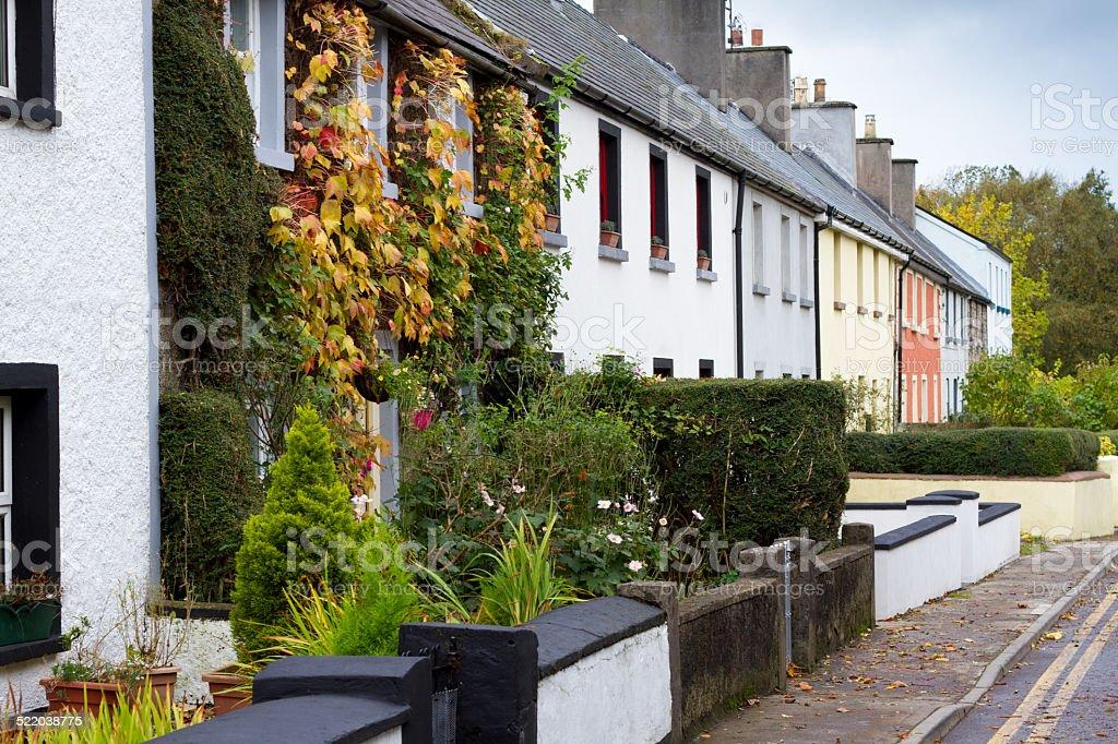 Irish Style: Row Houses, Ireland stock photo