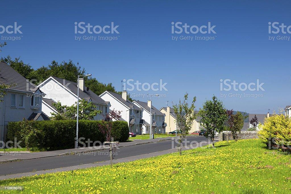 Irish Suburbs royalty-free stock photo