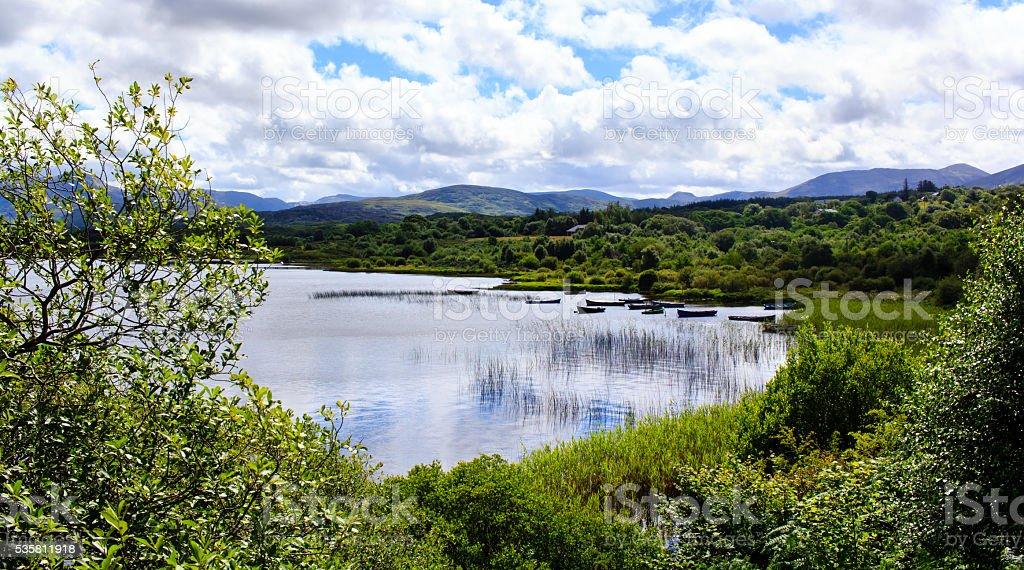 Irish summer lake stock photo