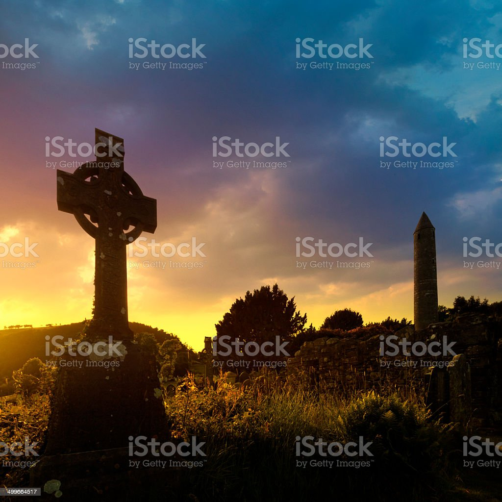 irish sunset stock photo