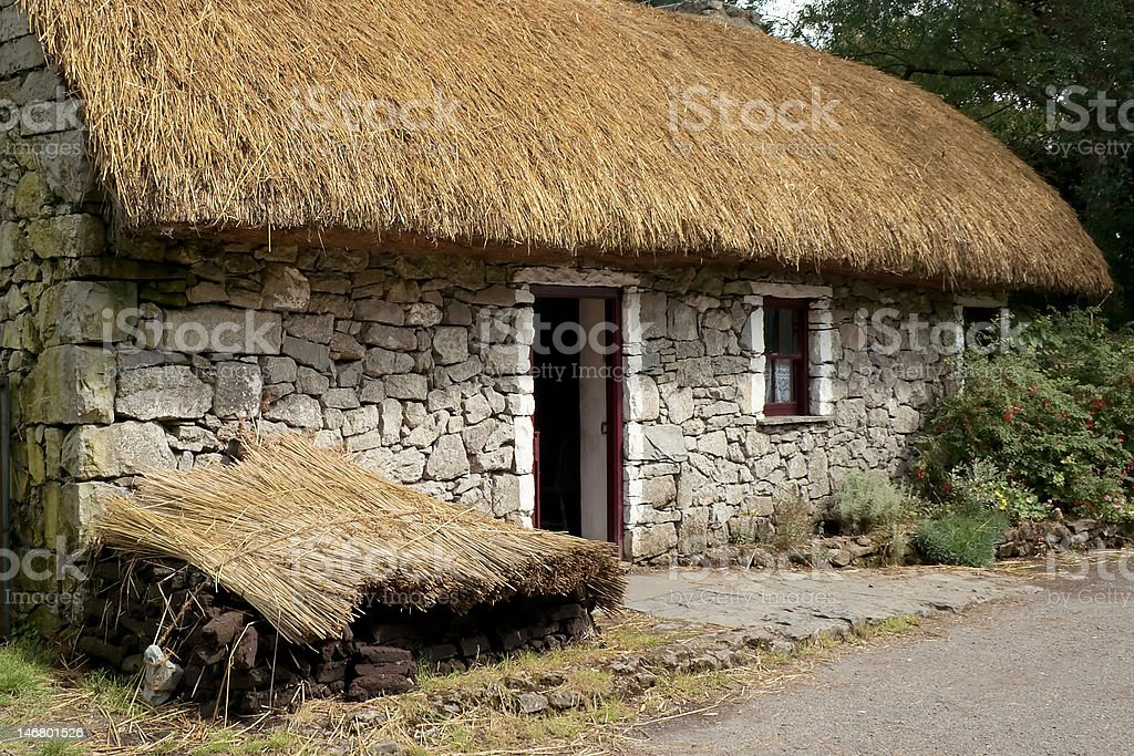 Irish Thatch Cottage royalty-free stock photo