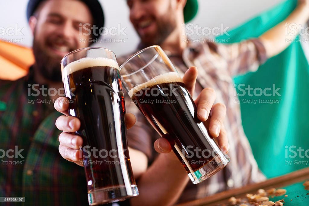 Irish toast stock photo