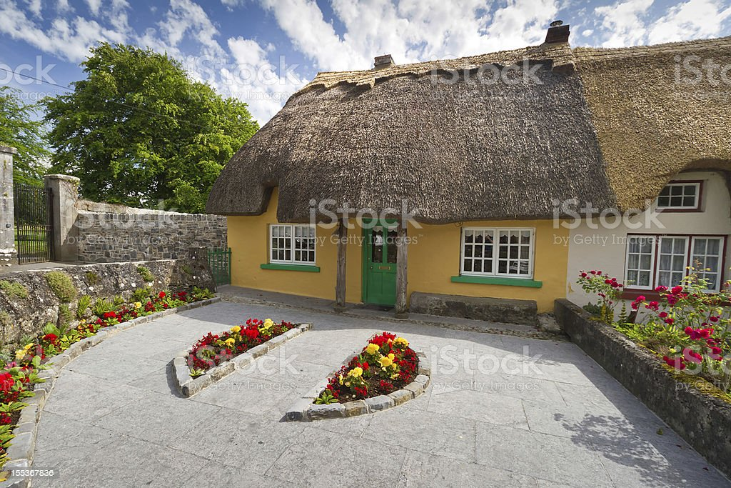 Irish traditional cottage royalty-free stock photo