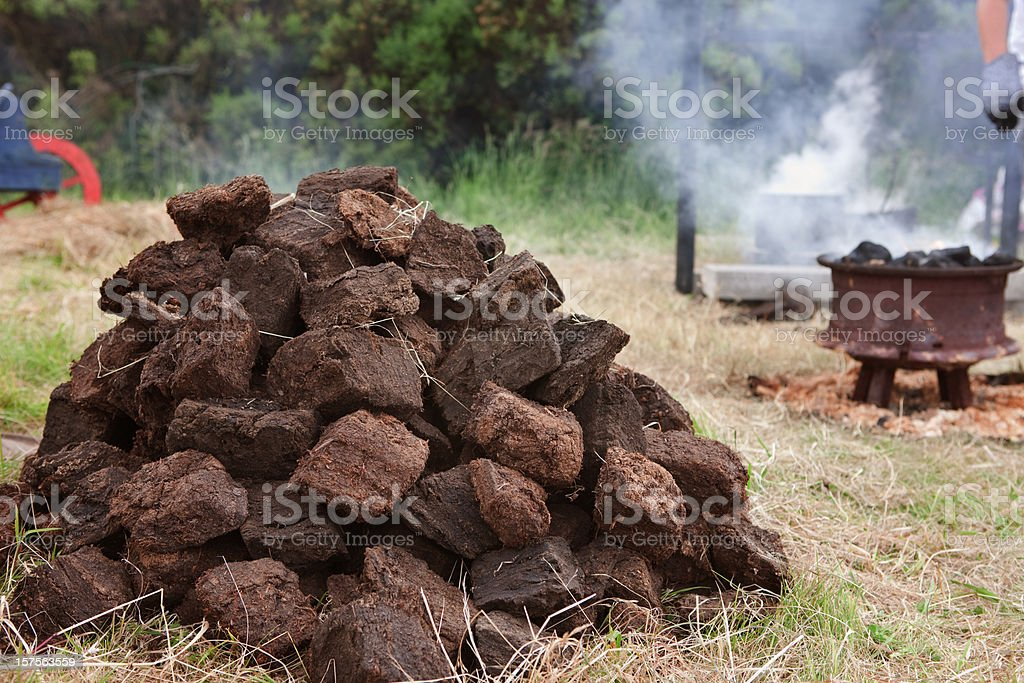 Irish Turf stock photo