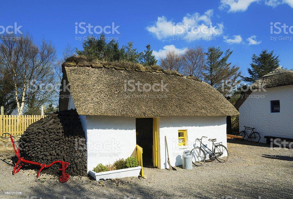 Irish village stock photo