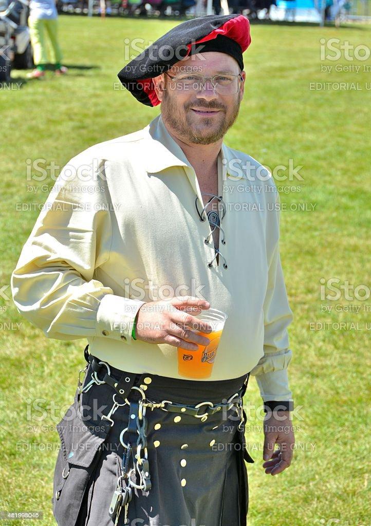Irishman with Beer stock photo