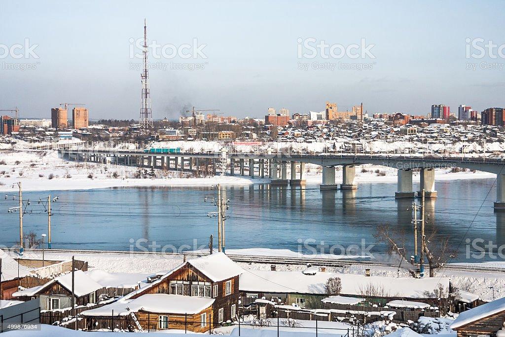 Irkutsk Cityscape stock photo