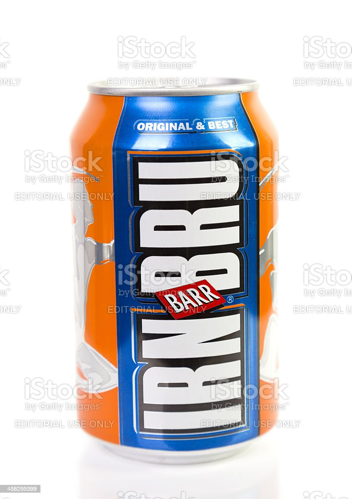 Irn Bru Can royalty-free stock photo