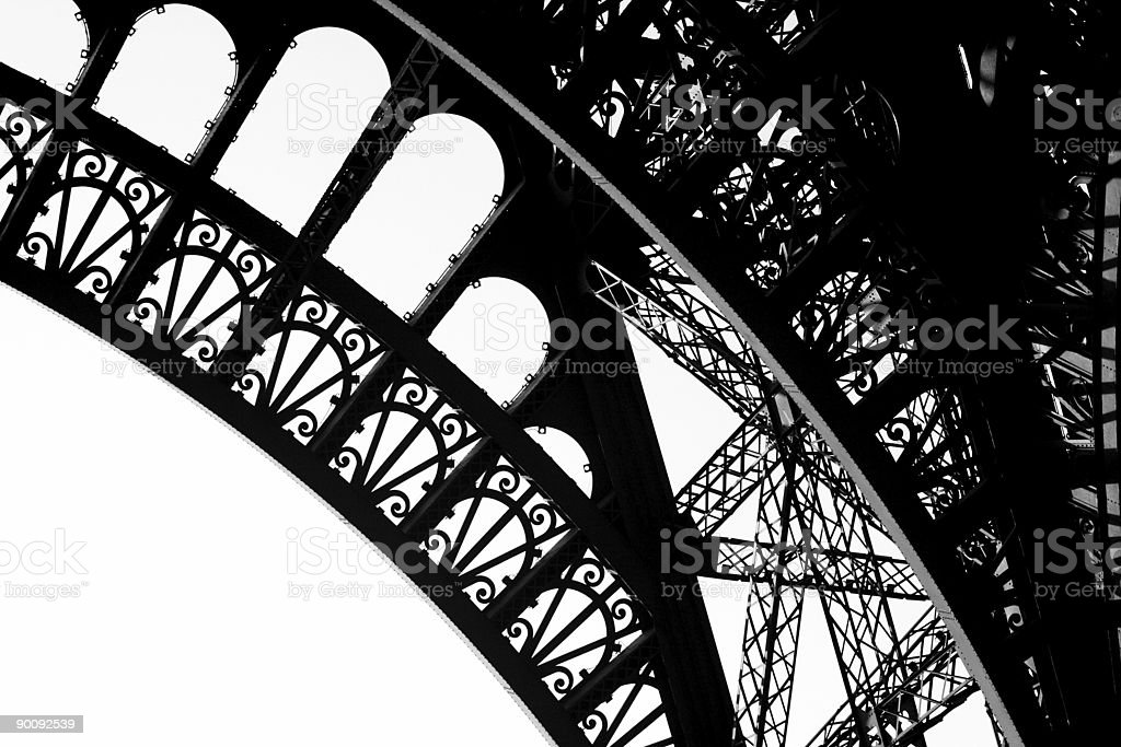 Iron 1889 - Tour Eiffel Detail, Paris stock photo