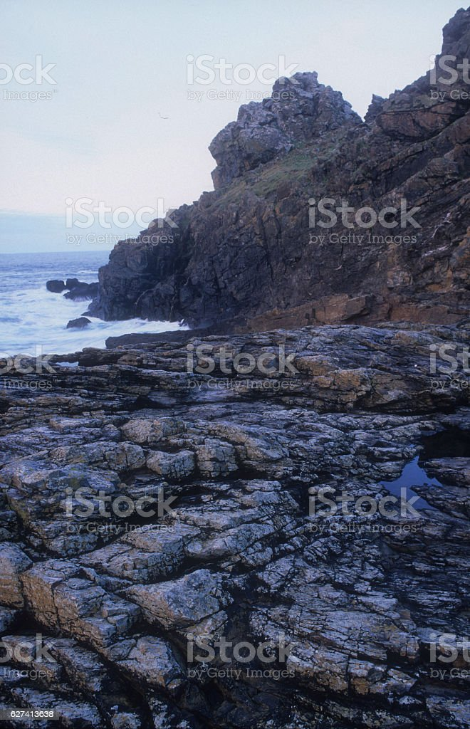 Iron Age Fort Gurnard's Head stock photo