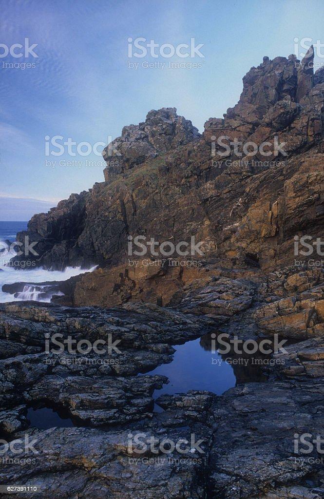 Iron Age Hillfort Gurnard's Head stock photo