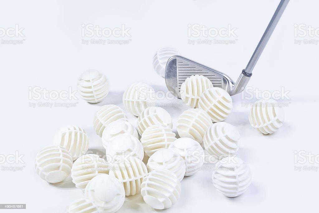 Iron and balls golf royalty-free stock photo