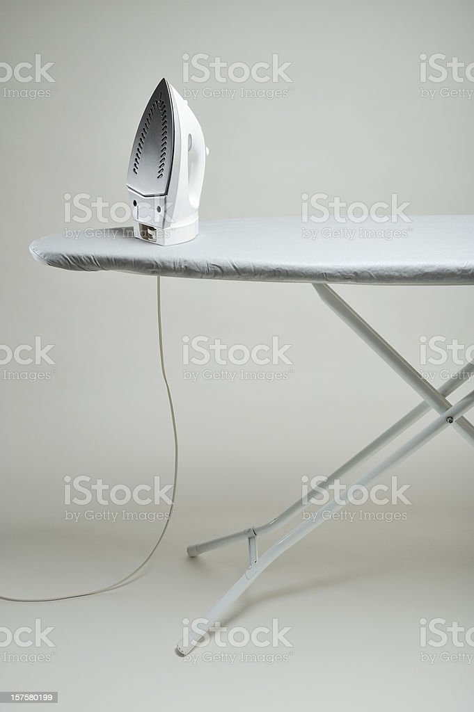 Iron and board stock photo