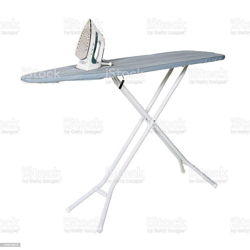 Iron And Ironing Board stock photo