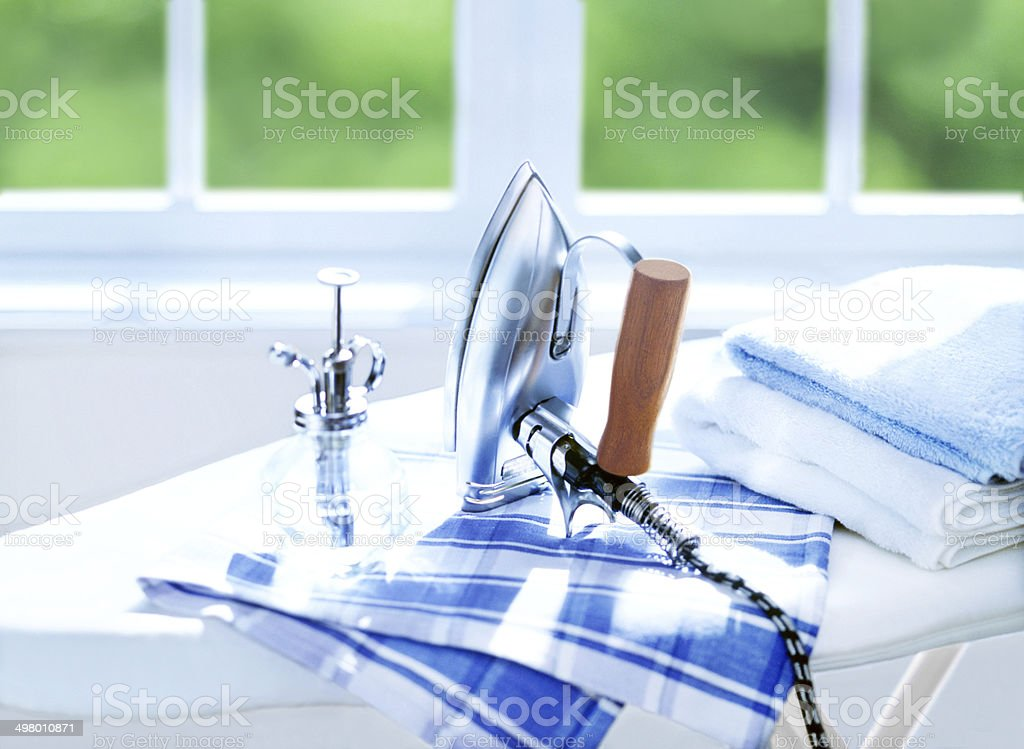 iron and sprayer stock photo