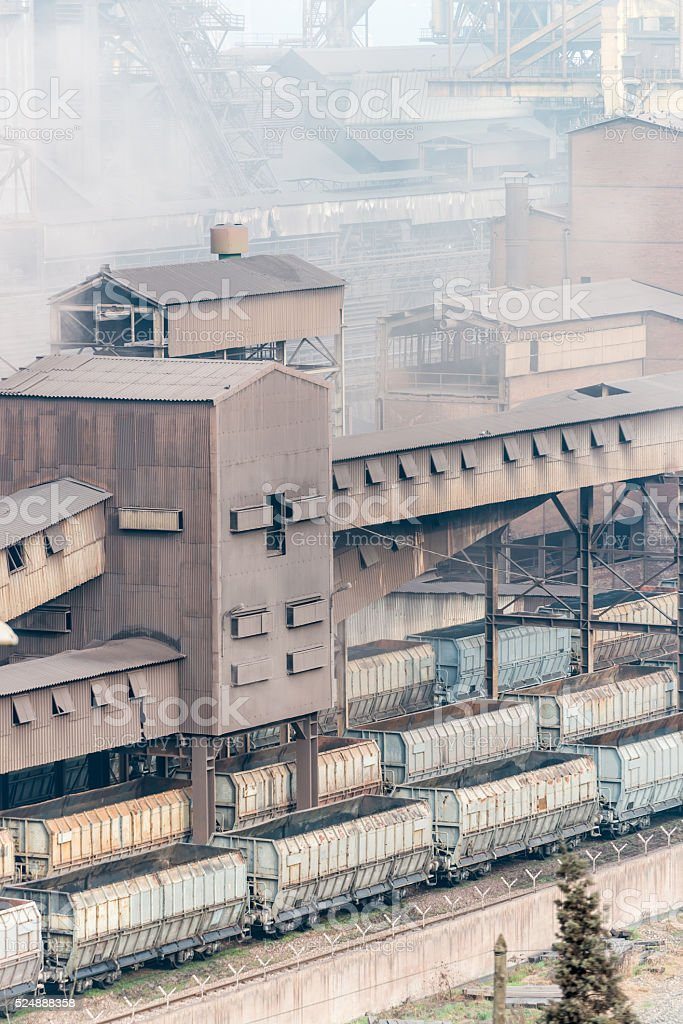 Iron and Steel Factory stock photo