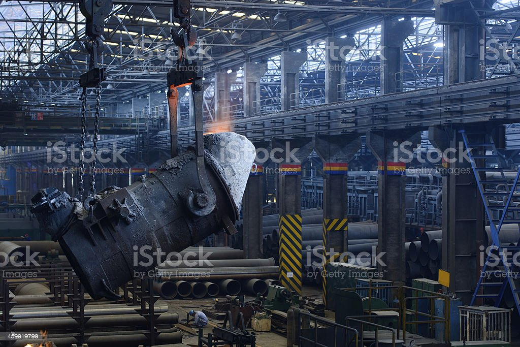 Iron and steel plant,workshop,Panorama stock photo