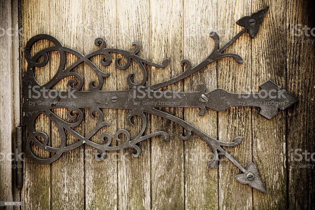 iron and wood stock photo